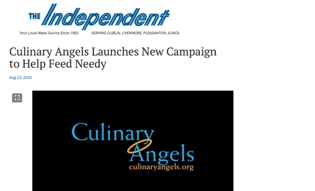 Culinary Angels Launches New Campaign to Help Feed Needy